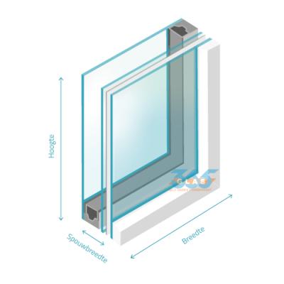 Hr++ dubbel glas gelaagd 4/spouw/44.2