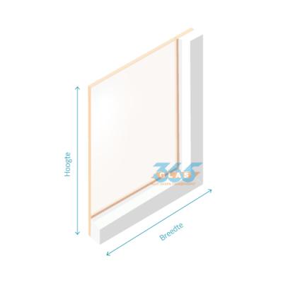 Enkel glas (float) Brons 4mm