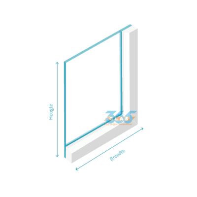 Enkel glas (float) Extra helder 6mm