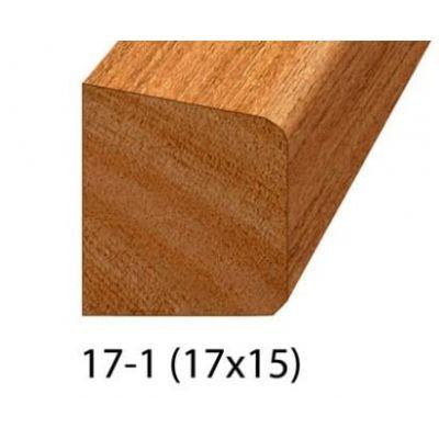 Zij- en bovenlat 17*15 2x gegrond bruin
